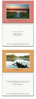 Faithful Wishes Box of 12 Assorted Scriptured Sympathy Cards with