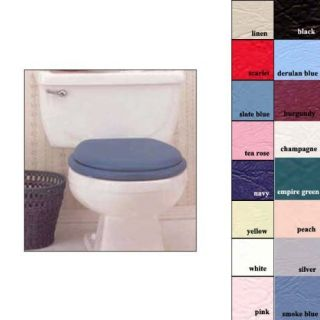 Ginsey Classique Standard Round Cushion Soft Padded Toilet Seat Desert