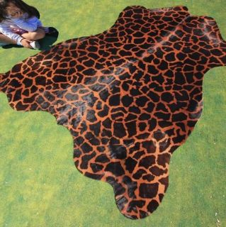 Cowhide Rug Cowskin Cow Hide Skin Giraffe Print Carpet Animal Print