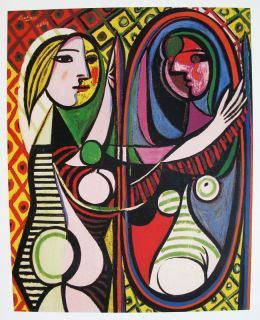 Pablo Picasso Signed Lithograph Girl Before A Mirror