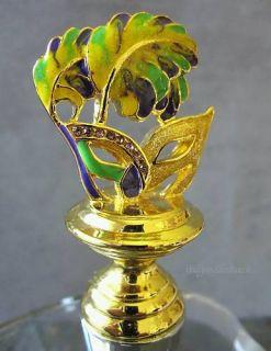 Jeweled Mardi Gras Mask Corkscrew Wine Bottle Stopper Venetian