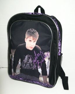 Girls Justin Bieber School Backpack Lunch Box Tote Bag Bieber Fever