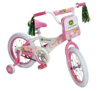 New John Deere 16 Girls Bike Pink