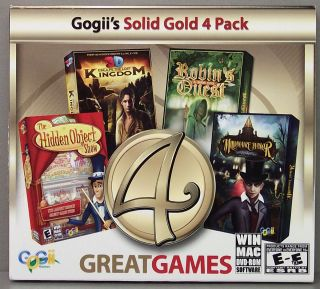 Solid Gold 4 Game Pack Hidden Objects PC ROM Game Win Mac
