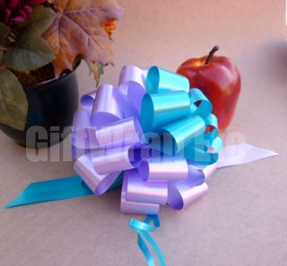 10 Turquoise Lavender Lilac 6 Pull Bows Gift Basket Shower