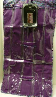 Waites purple hanging gift wrap organizer bag closet 2 sided Xmas