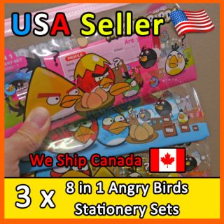 Angry Bird Pencil Case Bag Stationery Set Kid Gift Thanksgiving