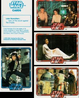 1978 General Mills Star Wars Paper Card Set