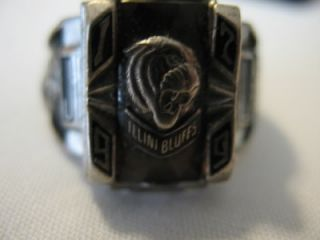 Vintage 1979 Illini Bluffs High School Class Ring