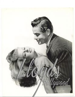 Rita Hayworth Gilda on Set with Glenn Ford Studio Photograph 1946