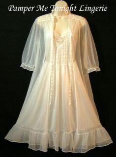Classic Unique RARE Chiffon Vintage Nightgown Gown Peignoir Robe Set