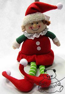 Elf Girl Doll Plush Toy Ganz Christmas Santa Little Helper Small