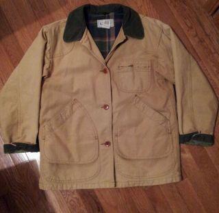 Bean Barn Jacket Lined Winter Small Womens Canvas Heavy Duty Tan