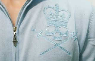 439 AMAL GUESSOUS RockN Roll Couture Men Mens 100 Cashmere Zipped