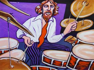 Ginger Baker Painting Drums Blues Cream Disraeli Gears Air Force
