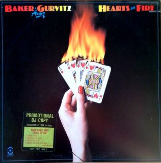 Baker Gurvitz Army Ginger Baker Hearts of Fire Atco LP Promo Sticker