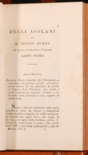 1808 1809 4 Vol Works of Pietro Bembo Classici Italiani