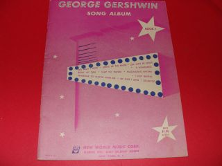 George Gershwin Song Album Piano Book 1 1952 The Man I Love O Lady Be