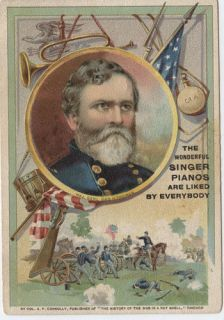 Major Gen George H Thomas Advertisment Tradecard Minnesota
