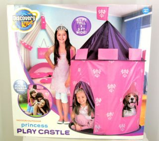 Discovery Kids Princess Play Castle Tent New Indoor Outdoor Girls Pink