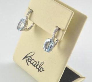 Recarlo Orecchini Oro Bianco Con Acquamarina E Diamanti
