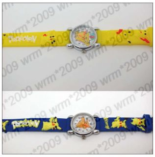 Free SHIP 1pcs Pokemon Pikachu Kids Watch Xmas Gift