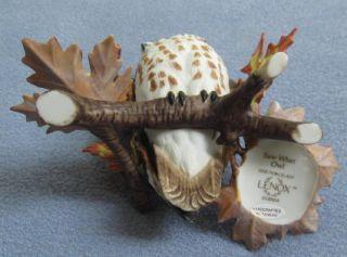 Lenox Saw Whet Owl Garden Bird Porcelain Figurine Mint