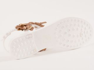 New Bounty by El Vaquero White Sandals Size 37 US 7