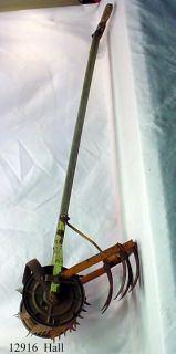 Vintage Antique Garden Hand Push Cultivator Tiller Weed Plow Vegetable