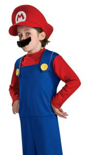 Super Mario Official Nintendo Costume Child Sz 6 New Red Hat Mustache