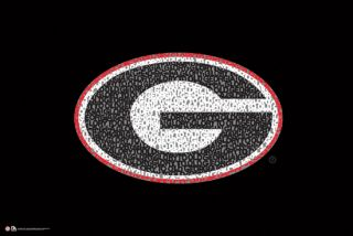 Georgia Bulldogs Football Glory Glory Fight Song NCAA Team Logo Poster