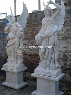 Four Seasons Angel Statue Garden Marble Sculpture Large