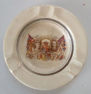 Queen Mary King George V 1910 1935 Sivler Jubilee Ashtray