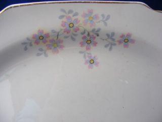 George White Lido Serving Platter 11 5 Pink Gray