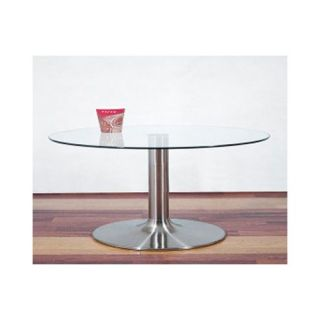 Home and Office Round Coffee End Table in Clear Glass Ct 030
