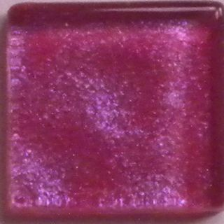 50 3 8 in Iridescent Hot Pink Glass Mosaic Tiles