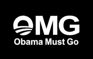 OMG Obama Must Go Sticker Decal Graphic Tea Party