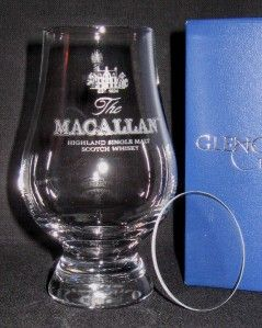 MACALLAN GLENCAIRN SCOTCH WHISKY GLASS WITH WATCH COVER & LEATHERETTE