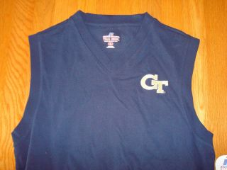 GEORGIA TECH YELLOW JACKETS RUSSELL ATHLETIC SLEEVELESS T SHIRT Size