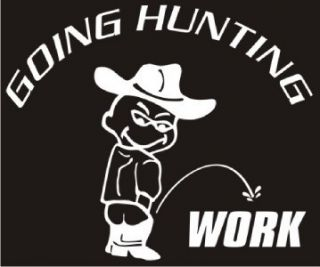 Going Hunting Decal Car Truck RV Laptop