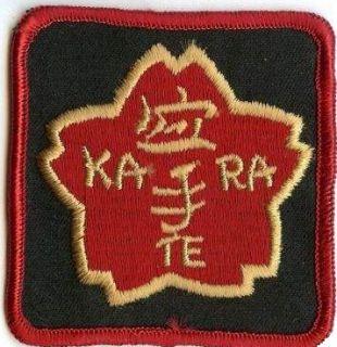 Vintage Karate Patch goju shotokan shito uechi ryu ryukyu kenpo