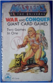 War and Conquer Giant Card Games 41 Pcs