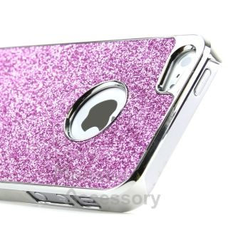 Pink Deluxe Chrome Glitter Hard Case Cover for Apple iPhone 5 5th Gen