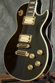 Vintage 1975 Gibson Les Paul Custom Black Beauty Guitar GRLC615