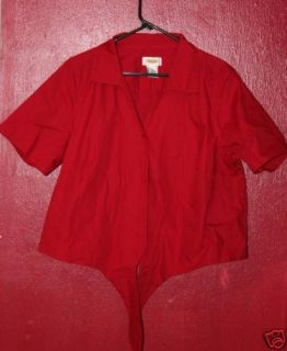 Talbot Plus Size 1x Red Button Up Shirt w Ties