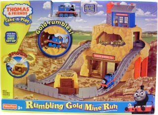 Thomas & Friends Rumbling Gold Mine Run Train Set Die Cast Fold NEW