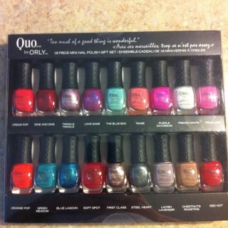 Quo by Orly 18 Piece Mini Nail Polish Gift Set on Sale