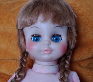 RARE1970 EEGEE GOLDBERGER CO. DOLL RED HAIR BLUE EYES LONG LASHES