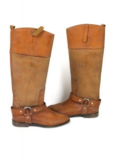 Golden GOOSE Womens Upper Brown Distressed Riding Boots 36 $1275 New