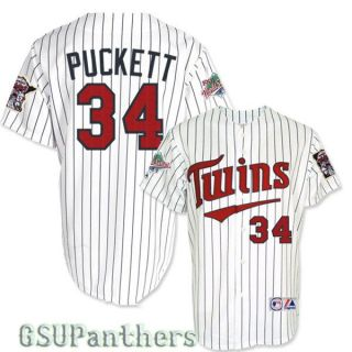 Kirby Puckett 1991 Minnesota Twins World Series Home Jersey Mens Sz M
